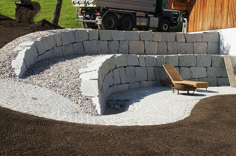 Referenzen | 4 sitzplatz steinmauer granit spital am pyhrn