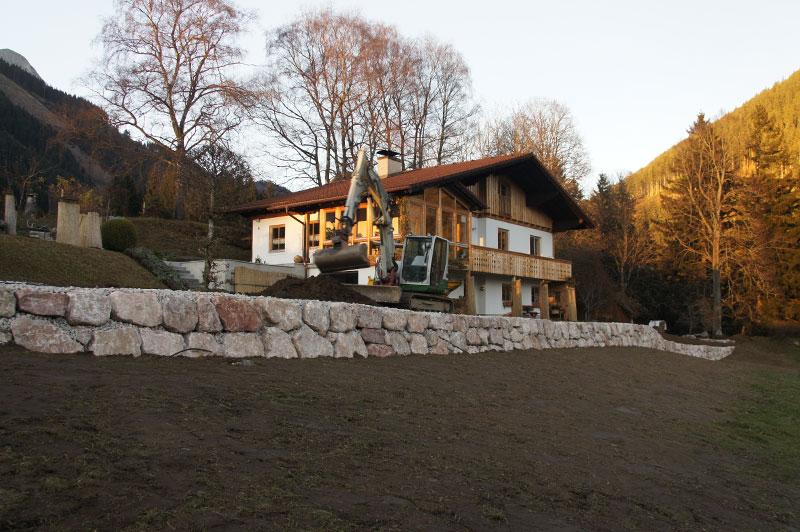 Referenzen | 8 natursteinmauer kalkstein setzen ardning